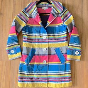 Boden vintage stripe Mac coat jacket